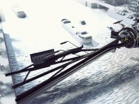Un ponte scultura ispirato nel Jet F117