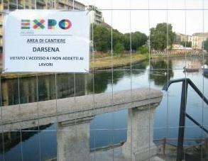 Expo 2015, il drone sul cantiere della Darsena
